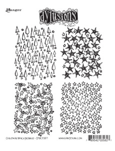 Dyan Reaveley CHRISTMAS BACKGROUNDS Stamp Set Dylusions Cling Unmounted Rubber DYR35817
