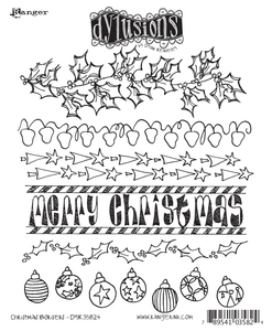 Dyan Reaveley CHRISTMAS BORDERS Stamp Set Dylusions Cling Unmounted Rubber DYR35824 zoom image