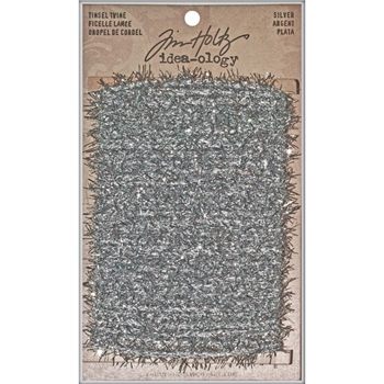 Tim Holtz Idea-ology SILVER TINSEL TWINE TH93025