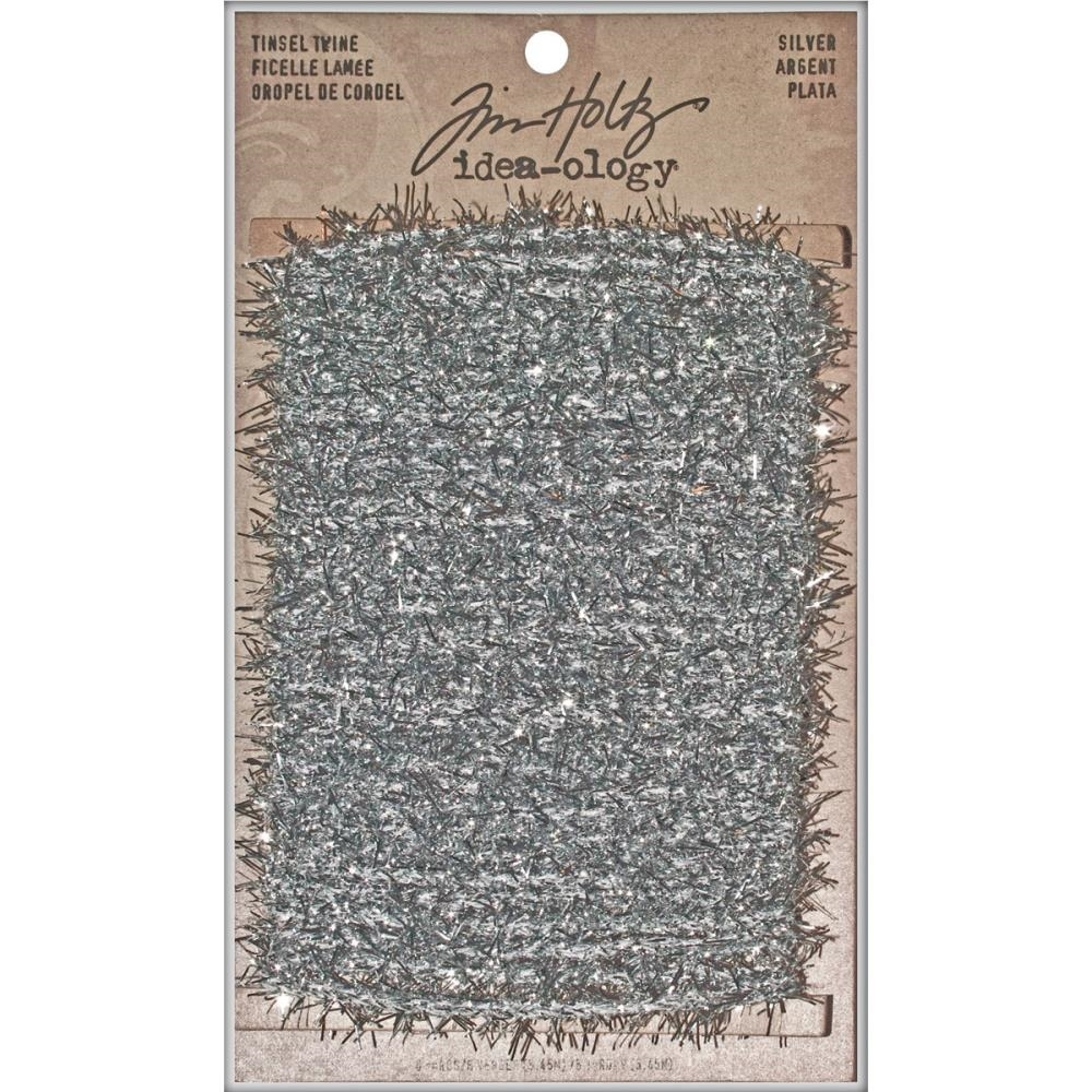 Tim Holtz Idea-ology SILVER TINSEL TWINE TH93025 zoom image