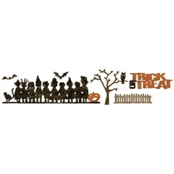 Tim Holtz Sizzix Die HALLOWEEN SHADOWS Decorative Strip 658253