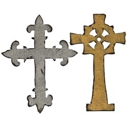 Tim Holtz Sizzix Die ORNATE CROSSES Bigz 658245