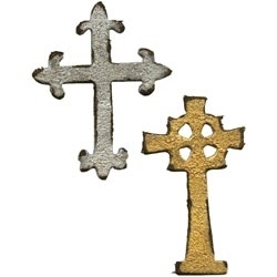 Tim Holtz Sizzix Die MINI ORNATE CROSSES Movers Shapers 658247
