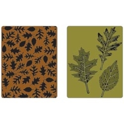 Tim Holtz Sizzix LEAVES Texture Fades Embossing Folders 658251