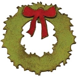 Tim Holtz Sizzix Die MINI  WREATH AND BOW Movers Shapers 658267 Preview Image