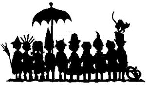 Tim Holtz Rubber Stamp TRICK OR TREATERS Stampers Anonymous U3-1968 Preview Image