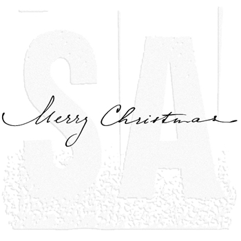 Tim Holtz Rubber Stamp MERRY CHRISTMAS SCRIPT Stampers Anonymous K6-1971