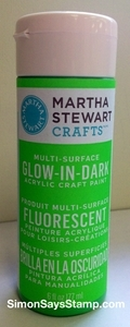 Martha Stewart GREEN GLOW IN THE DARK 6oz Multi-Surface Acrylic Paint 32221