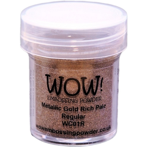 WOW Embossing Powder GOLD RICH PALE Regular WC01R Preview Image