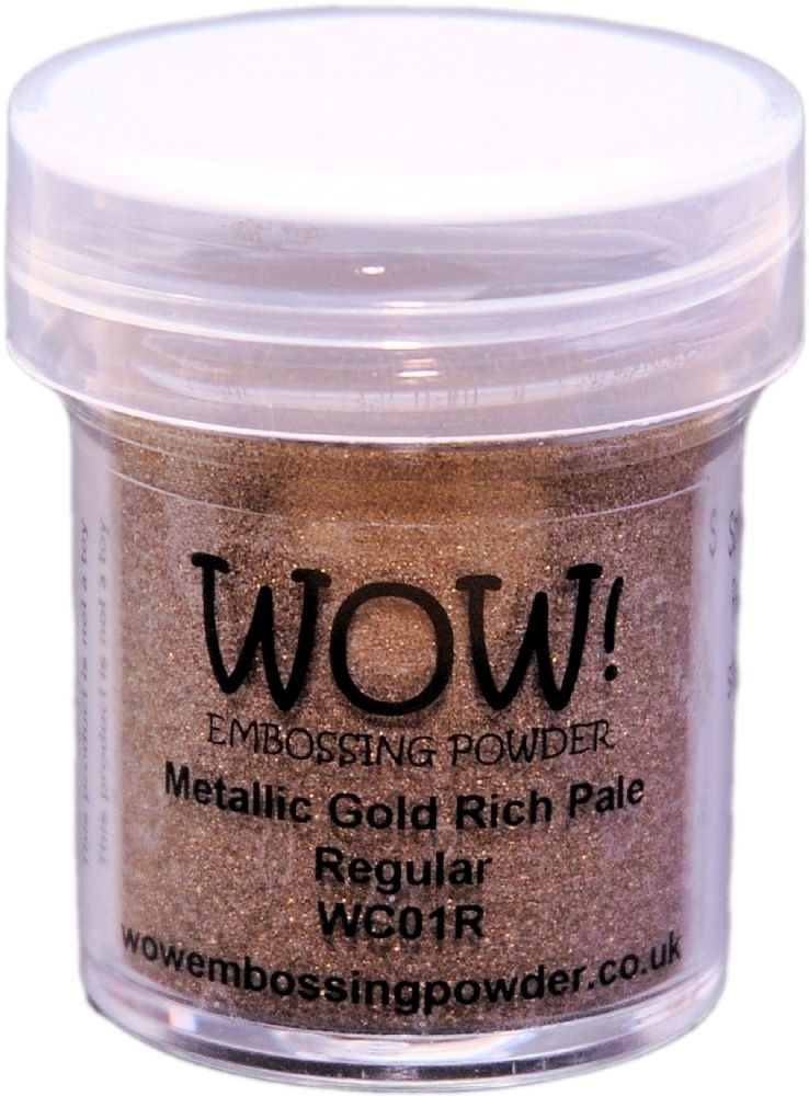 WOW Embossing Powder GOLD RICH PALE Regular WC01R zoom image