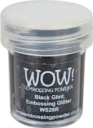 WOW Embossing Glitter BLACK GLINT Regular WS28R zoom image