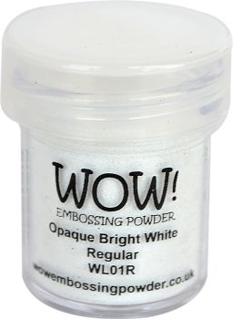 WOW Embossing Powder OPAQUE BRIGHT WHITE REGULAR WL01R