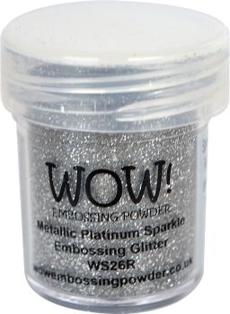 WOW Embossing Glitter PLATINUM SPARKLE WS26R