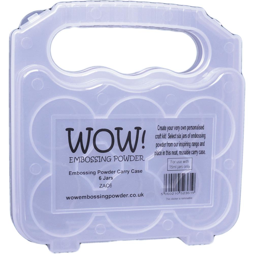 WOW Embossing Powder CARRY CASE 6 Jars ZAC6