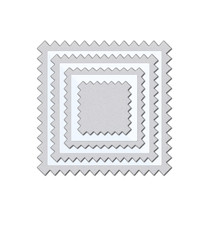 Wplus9 PINKING SQUARES Designer Dies Clear Cut Stackers WP9D-028 zoom image