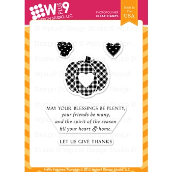 Wplus9 PRETTY PATCHES PUMPKIN Clear Stamps 61860