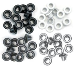 We R Memory Keepers GREY Standard Eyelets 41582-4