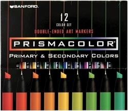 Prismacolor 12 SET DOUBLE ENDED Art Markers 3620