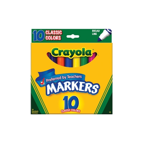 Crayola 10 CLASSIC COLORS Markers Preview Image