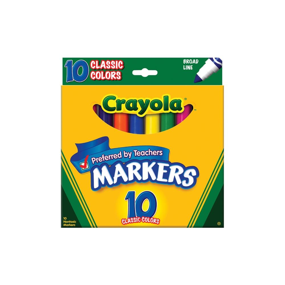 Crayola 10 CLASSIC COLORS Markers zoom image