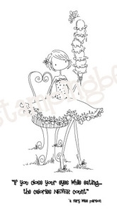 Stamping Bella Cling Stamp UPTOWN GIRL ISABELLE LOVES ICE CREAM Rubber UM EB228 zoom image