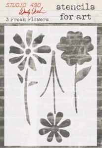 Wendy Vecchi STENCILS For Art 3 FRESH FLOWERS Studio 490 WV-SFA005*