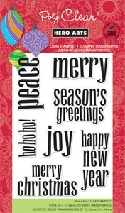 Hero Arts Clear Stamps LOWERCASE GREETINGS Christmas CL621