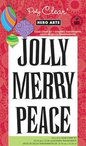Hero Arts Clear Stamps JOLLY Christmas CL620* zoom image