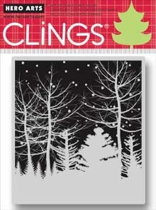 Hero Arts Cling Stamp SNOWY WINTER NIGHTS CG484
