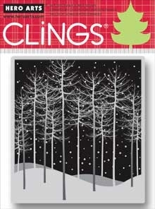 Hero Arts Cling Stamp WINTER TREES CG471