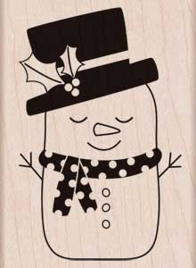 Hero Arts Rubber Stamp SLEEPING SNOWMAN H5622
