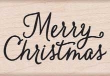 Hero Arts Rubber Stamp MERRY CHRISTMAS SCRIPT d5615