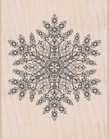 Hero Arts Designblock Rubber Stamp DAZZLING SNOWFLAKE s5605 Preview Image