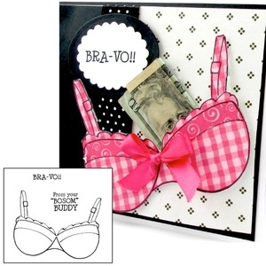 Art Impressions BRA KEEPER Cling Rubber Stamps