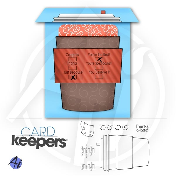 Art Impressions COFFEE KEEPER Cling Rubber Stamps zoom image