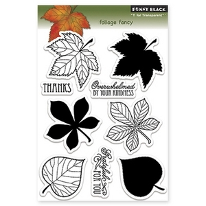 Penny Black Clear Stamps FOLIAGE FANCY Fall 30-138