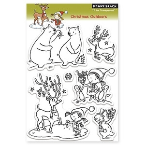Penny Black Clear Stamps CHRISTMAS OUTDOORS 30-125 zoom image
