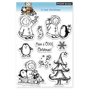 Penny Black Clear Stamps A COOL CHRISTMAS 30-128*