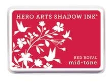 Hero Arts Shadow Ink Pad RED ROYAL Mid-Tone AF225