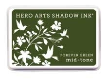 Hero Arts Shadow Ink Pad FOREVER GREEN Mid-Tone AF229 Preview Image