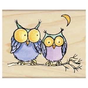 Penny Black Rubber Stamp MOONLIGHT OWLS 4287H* Preview Image