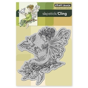Penny Black Cling Stamp ANGEL OF PEACE Rubber Unmounted 40-156 zoom image