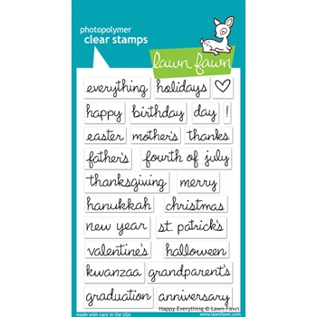 Lawn Fawn HAPPY EVERYTHING Clear Stamps