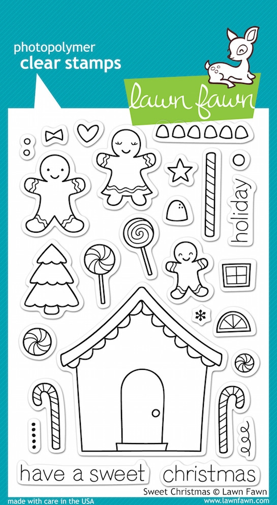 Lawn Fawn SWEET CHRISTMAS Clear Stamps zoom image