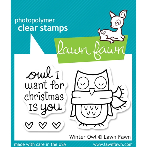 Lawn Fawn WINTER OWL Clear Stamps Preview Image