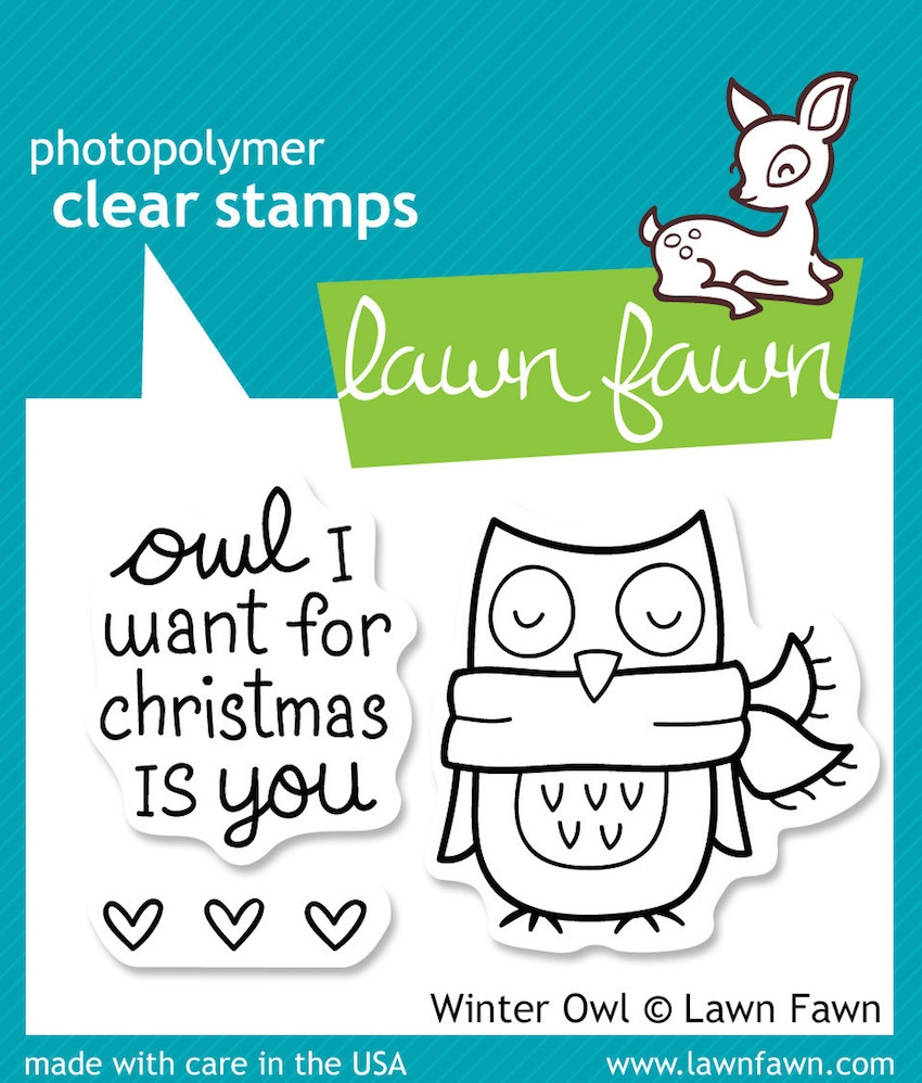Lawn Fawn WINTER OWL Clear Stamps zoom image