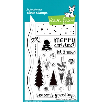 Lawn Fawn LET IT SNOW Clear Stamps