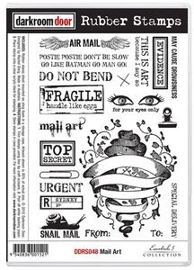 Darkroom Door Cling Stamp MAIL ART Rubber UM DDRS048