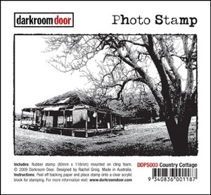 Darkroom Door Cling Stamp COUNTRY COTTAGE Photo Rubber UM DDPS003* Preview Image