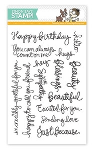 Simon Says Clear Stamps HANDWRITTEN SENTIMENTS sss09122